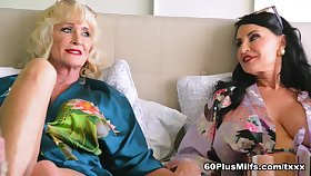 In regard to Bed In Leah L'amour And Rita Daniels - Leah L'amour And Rita Daniels - 60PlusMilfs