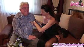 German milf more beamy titties fucks grandpa to hand come with date