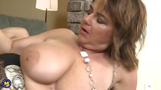 Mature mothers blow and fuck young lucky sons
