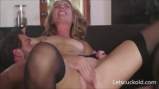 Blond Hair Son Mommy Pounding Husband Watching - FUCK Integument