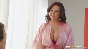 massive tits Sheridan Love makes steadfast dick disappears in her pussy