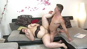 Chubby unspecified roughly fucked off out of one's mind a young stud and jizzed