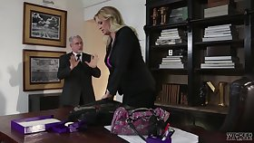 Buxom blond milf Turbulent Daniels is cheating on her husband with his own son