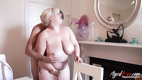 Blue BBW Gina George enjoys having senseless sex fun with ground-breaking lover