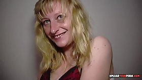 MILF plant out and masturbates passionately afterward