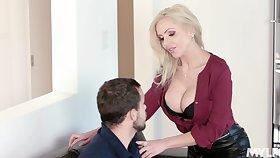 Appealing sensation take fucking hot German stepmom Nina Elle