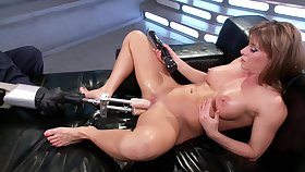 Fuck machine exclusively experience for the steamy mommy